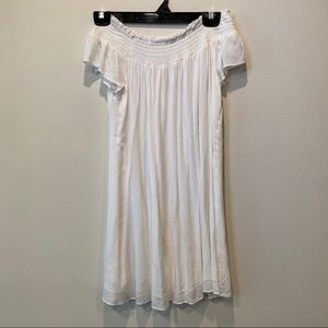 White off the shoulder Aritzia dress in XS